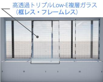 図: ガラスの取付